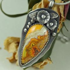 Handmade Sterling Silver Pendant (Sincerely Earth Jewelry) Tags: jasper bumblebee handmadejewelry artisanjewelry gemstonejewelry sterlingsilverjewelry jasperjewelry