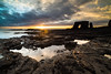 Arch at Lizard Point below Souter Lighthouse, Whitburn (Ian Purves) Tags: uk lizardpoint seastack whitburn codurham northeastengland zf2 distagont2821 lee09nd lee06ndgradhard zeissdistagont2821zf2