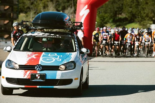 Jetta Sportwagen TDI pace car for the Gran Fondo 100-mile ride