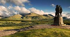Commando Memorial, Scottish Highlands (Bart Hoga) Tags: travel bridge sunset mountains statue scotland landscapes highlands nikon memorial ben commando nevis spean