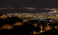 Volos - The city of God - (explore 19/2/13) (Valadis Kostas Papadopoulos, Volos) Tags: city longexposure sea mountain seascape black tree cars night canon landscape town nikon europe nightscape trails greece 5d pelion larisa d600 volos pilio thessalia  thesalia