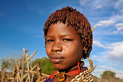 Hamer girl. SNNPR, Ethiopia (NeSlaB ф.) Tags: poverty africa travel decorations portrait woman black colors girl beauty look canon photo necklace eyes women traditional country culture shell photojournalism tribal unesco clothes ornaments braids tradition ethiopia tribe ethnic society hamar developingcountries hamer reportage nationalgeographic coiffure afrique ethnography ethnology omo etiopia debub ethnies snnpr neslab