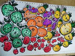 nu stickers ,hechos a mano (Yana Fat Luv) Tags: manzana stickers cupcake naranja pia chirimoya besito figuritas calcos