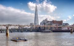 The Shard (cgull123) Tags: bridge london thames millenium shard tallest