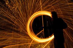 Close up (Maxflush) Tags: longexposure light lightpainting wheel bulb night dark painting fire orb burning burn dome lp effect spark nuit feu steelwool etincelle lightpaintinglightpainting wheelspark firefeu orbdomebulb burnetincelle effectburning nightdarknuit