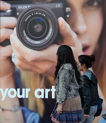 Sony has Flashy New Ads in the University Village (JohnCramerPhotography) Tags: seattle yourart sonystore universityvillage sonynex findyourartistry