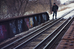 On The Tracks (bryanscott) Tags: bridge winter snow winnipeg railway manitoba
