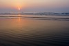 Sunrise in Visakhapatnam (Chaitup) Tags: sea sun beach nature sunrise sand sony a77 vizag carlzeiss distagont224