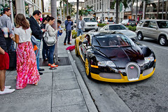 Attention... (McManF1) Tags: auto california girls sunset car canon automobile paint crowd hills beverly custom expensive popular attention bugatti exclusive 1740mm veyron bijan t2i