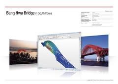 Bang Hwa Bridgein South Korea (MIDAS IT) Tags: bridge project south cable korea structure application civil pont bang dart hwa stayed midas voute analysis poutre suspendu ouvrage analyse haubant structurelle