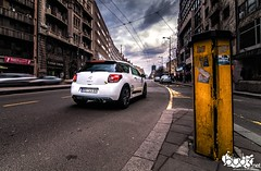 Citroen DS3 - Racing (Vocko) Tags: bridge winter people white photography nikon cloudy crowd under citroen automotive racing tokina 1750 28 belgrade tamron beograd ds3 beli albanija 1116 terazije brankovmost d300s