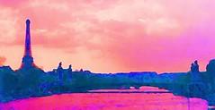 (sftrajan) Tags: paris france seine frankreich edited fiume bridges toureiffel scanned 1989 frankrijk fluss francia senna pars parigi riverseine rivier nikonem pary  pa     rosena photoscape