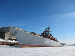 "Krivak class frigate ""Druzhnyy"" (Friendly) (spotykach) Tags: winter ship russia moscow vessel warship 2013 druzhniy дружный druzhnyy"
