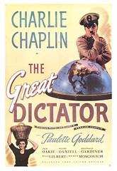Le Dictateur, 1940 (Charlie Chaplin: du muet au parlant) Tags: en film globe dictateur cinma charliechaplin hynkel thegreatdictator paulettegoddard affichedefilm filmparlant