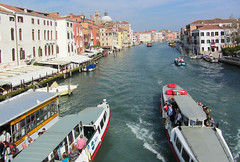 Lovely Sunny Afternoon in Venice (Jocey K) Tags: venice houses sky people italy water architecture boats canal worldheritagesite domes ferries grandcanal docking cosmostour6330