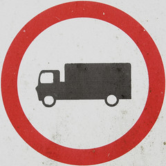 No goods vehicles (chrisinplymouth) Tags: sign warning circle traffic round squaredcircle squircle notrucks lorries forbidding cw69x chrisinplymouth