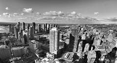 Toronto - 48 Stories (MorboKat) Tags: city morning lake toronto building architecture blackwhite construction downtown fisheye lakeontario fisheyelens