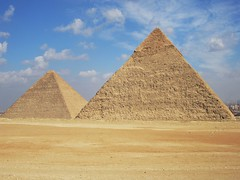 Giza Pyramids (D-Stanley) Tags: africa day cloudy egypt cairo pyramids giza