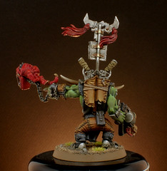 Big Boss Ork Rear. (Vaaloren) Tags: boss true metal big ork weathering squig semnn