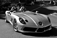 Mercedes McLaren SLR Stirling Moss (piolew) Tags: bw white black slr mercedes hotel moss top stirling monaco mc mclaren carlo monte marques fairmont 2012 tm12