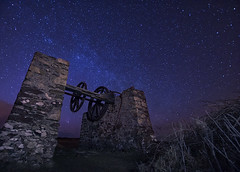 'Wheels Of Industry' - Porth Wen, Anglesey (Kristofer Williams) Tags: sky industry night stars industrial wheels clear andromeda astrophotography nightsky cogs comet milkyway anglesey northwales panstarrs porthwen noctography cometpanstarrs