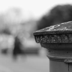fugacious (mjwpix) Tags: street blackandwhite bw london car square post mail f14 candid suburbia pedestrian postbox vehicle lichen royalmail ealing pillarbox shallowdof canonef50mmf14usm 500x500 canoneos550d michaeljohnwhite mjwpix