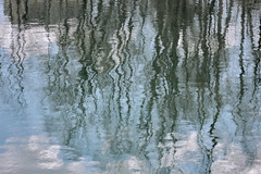 spring reflection (Jwaan) Tags: blue sky newyork reflection water clouds river spring dam central auburn upstate owasco