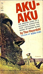 Thor Celebrates Easter (Wires In The Walls) Tags: vintage book paperback cover scanned 1960s exploration moai easterisland aku moia 1965 thorheyerdahl 75142