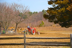 Spring is time for planting! (ineedathis) Tags: trees tractor nature fence spring earth farm soil farmer plowing nikond80 mrschneider allrightsreservedusewithoutpermissionisillegalpleaseclickontheimage~~