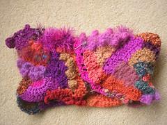 cowl (crochetblue) Tags: colour art texture crochet accessories freeform freeformcrochet scrumbles scrumbling