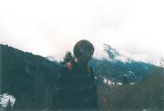 my voice is quiet (oh no, not again) Tags: portrait mountain film 35mm dark grain sema canonae1 expired trentino film1 agfavista400 treessteps