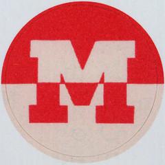 Vintage Sticker Letter M (Leo Reynolds) Tags: canon eos iso100 m mmm letter squaredcircle 60mm f80 oneletter letterset 40d hpexif 0077sec 066ev grouponeletter xsquarex xleol30x sqset092 xxx2013xxx