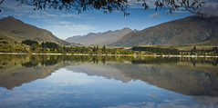 Glendhu Bay Reflections (DarrynSantich) Tags: autumn newzealand lake beauty reflections peaceful calm nz southisland lakewanaka calmness glendhu glendhubay