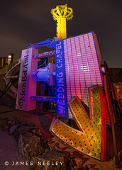 Boneyard 5 (James Neeley) Tags: nightphotography lightpainting lasvegas nevada boneyard lowlightphotography jamesneeley neonsignmuseum