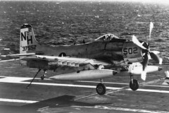 VA-115 AD-6/A-1H Skyraider BuNo 137552, NH-502 (skyhawkpc) Tags: airplane aircraft aviation navy douglas naval usnavy usn 1962 usskittyhawk skyraider 137522 nh502 a1had6 va115arabs