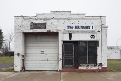 The Hungry i (metroblossom) Tags: newyork building retail grey buffalo cloudy commercial upstatenewyork derelict cray westernnewyork shuttered thehungry img5552