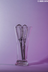 Glass (AndreCostaPhotography) Tags: glass studio gels kitchenware wisk strobes strobing andrecostaphotography