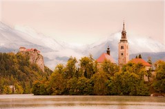 Lake Bled 1 (RiserDog) Tags: slovenia bled yugoslavia lakebled julianalps bledcastle pilgrimagechurchoftheassumptionofmary