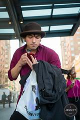 Late for a meeting (jrmsctt) Tags: street city nyc newyork meeting shaving late streetportraits streettogs