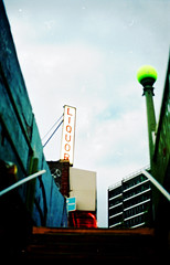 scan 29009a2 cr1 (metro special) Tags: nyc newyorkcity red urban newyork film station silver subway kodak grain olympus queens negative negatives filmgrain om1n kodak800film olympusom1n