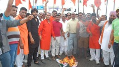 Pak buses diverted due to Shiv Sena protest in Phagwara (Punjab News) Tags: punjabnews punjab news government