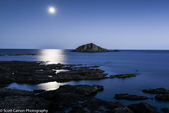 Moonlit Mewstone 1 (scott calnon) Tags: moonlit mewstone atmospheric nikon beautiful nightscape d810 nikond810 seascape heybrookbay devon photographer artistic
