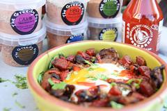 Baked eggs5 (thegreedyfoxcompany) Tags: breakfast eggs chorizo spinach baked