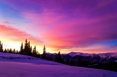 Winter morning view (oleksandr.mazur) Tags: beautiful cloud color dawn day forest highland hill inspire landscape moon morning mountain nature outdoor peaceful purple range relax ridge romantic scene shadows sky snow snowy sun sunlight sunrise sunshine tourism tree vacation wide winter
