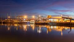 44 - port de la Turballe (Didier Ensarguex) Tags: hdr port laturballe loireatlantique bretagne didierensarguex 5dsr nuit heurebleue 2470l28 mer