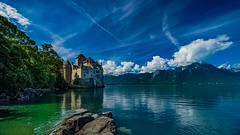 Chillon Castle (sunnyha) Tags: chilloncastle switzerland lake water sky landscape landschap skyblue bluesky blueskyandwhitecloud building outdoors sunny sunnyha castle mount mountain rock colour color colours photographier photograph photographer sony sonyilce7rm2 a7rll a7rm2