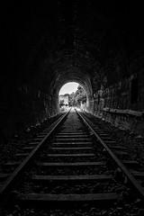 platamon railway (alastairgraham19) Tags: landscape train sony bw mono locomotive greece platamon