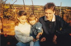 Gemma Georgie and Richard 1990's (Bury Gardener) Tags: family friends relatives oldies 1990s