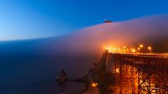 Fog (davidyuweb) Tags: luckysnaphsot san francisco sfist north vista point golden gate bridge sanfrancisco