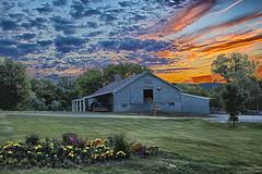 sunset-1 (e dibb) Tags: hdr farm sunset landscape